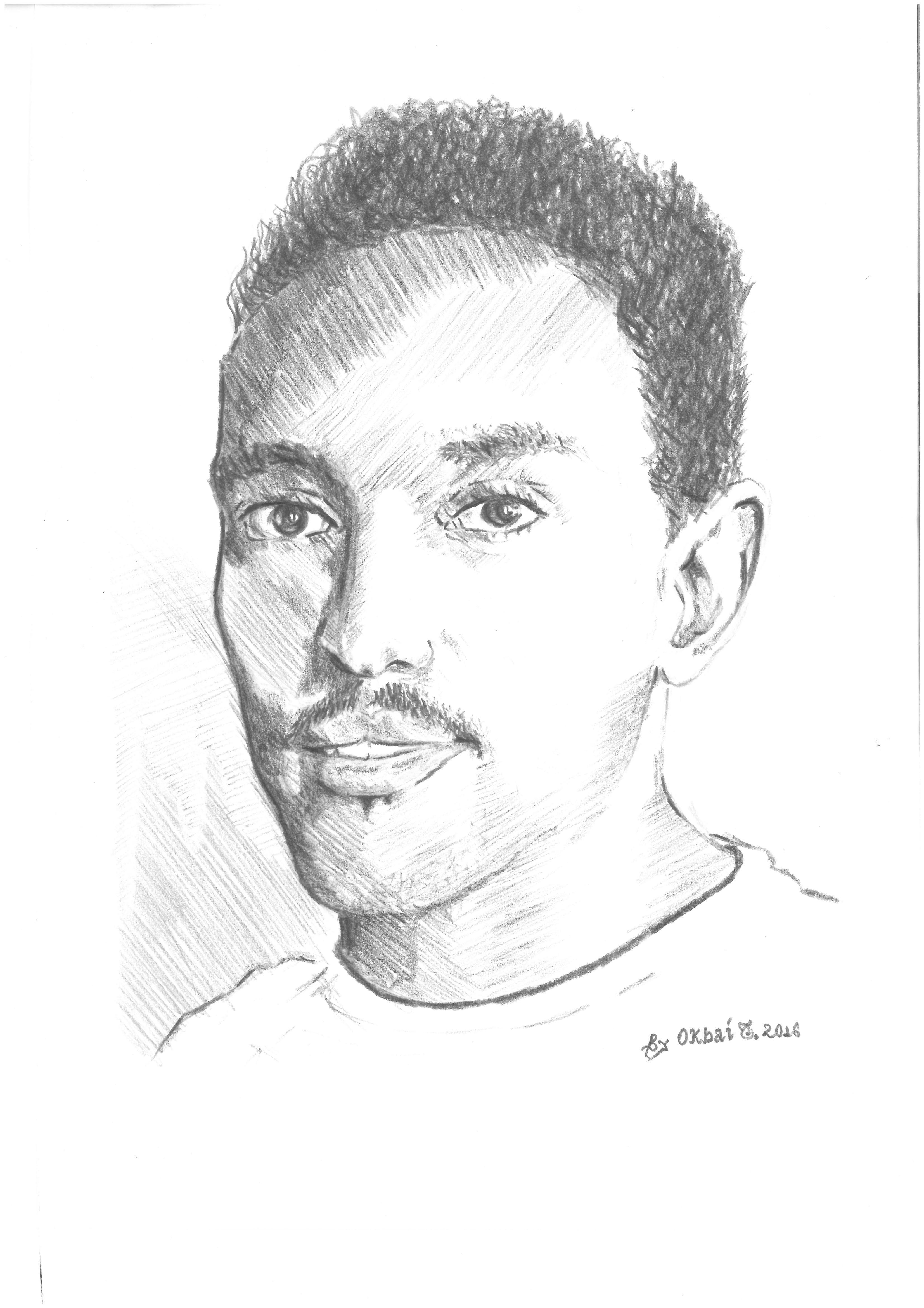 Eind Bild zeigt das Porträt von Okbai Tesfamichael