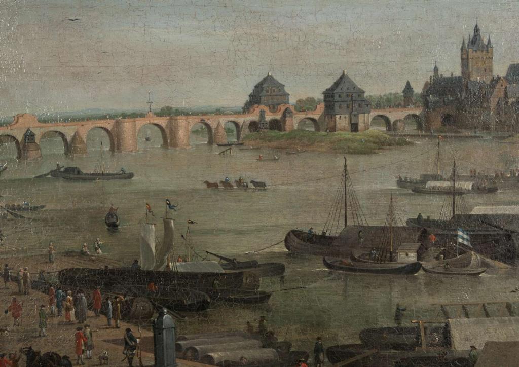 Friedrich Wilhelm Hirt Das Mainufer am Fahrtor 1757 Detail © HMF