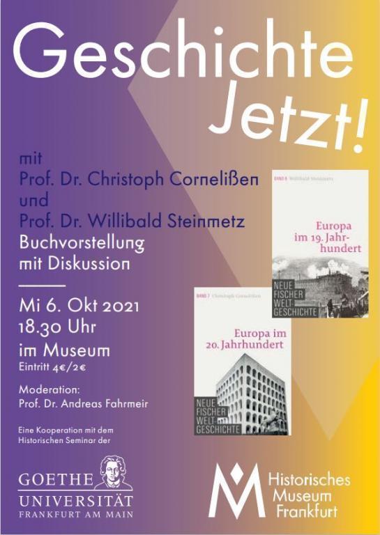 Flyer Lesungsreihe Geschichte Jetzt!