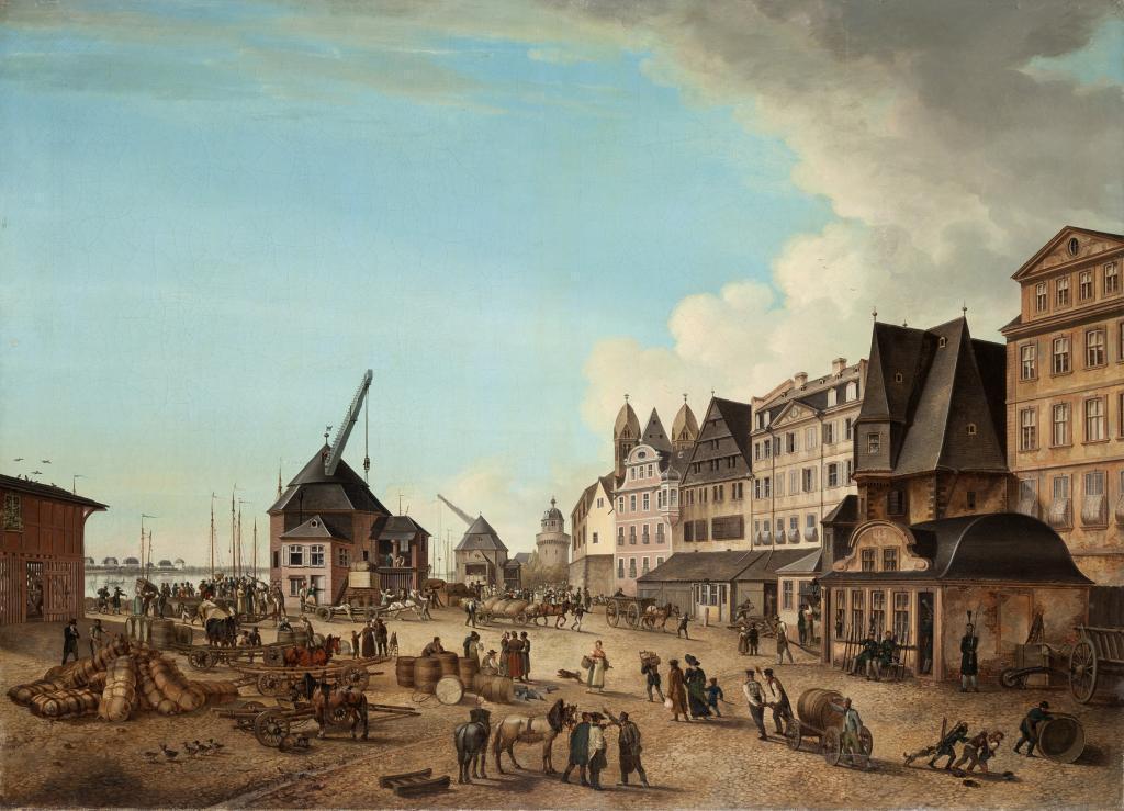 Johann Friedrich Morgenstern f. Weisbeck, Ansicht am Mainufer um 1835 (c) HMF, Horst Ziegenfusz