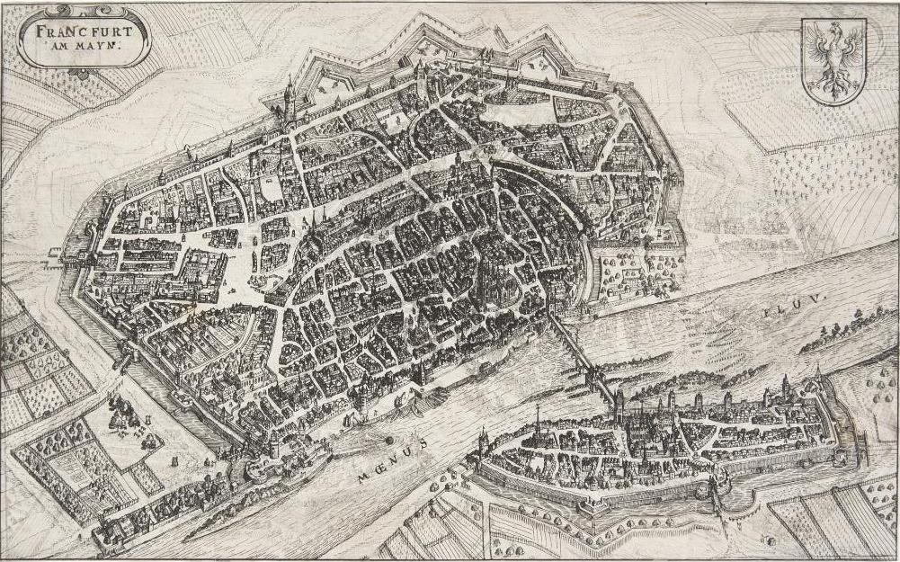 Kleine Stadtansicht von Frankfurt am Main um 1632 © HMF Horst Ziegenfusz
