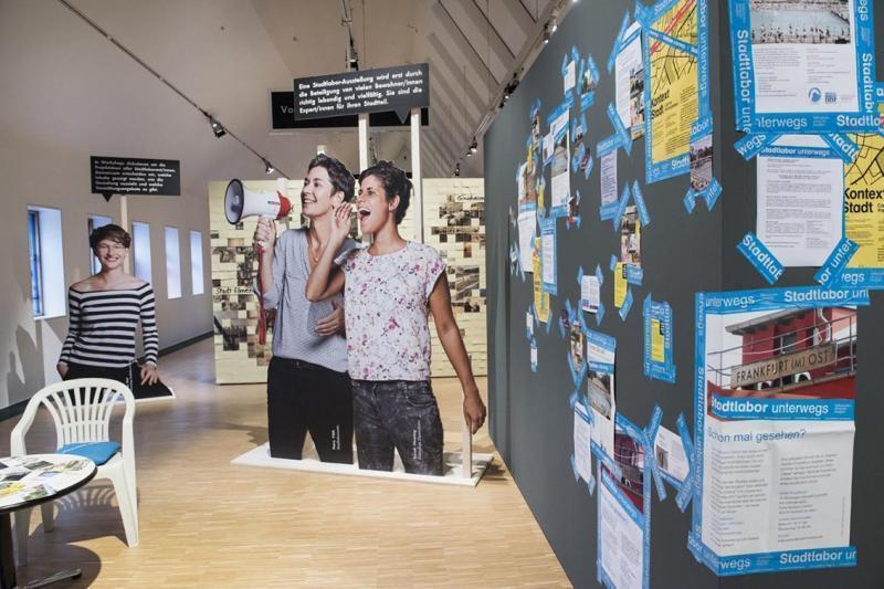 Einblick in die Ausstellungsfläche Frankfurt Jetzt! im Oktober 2017