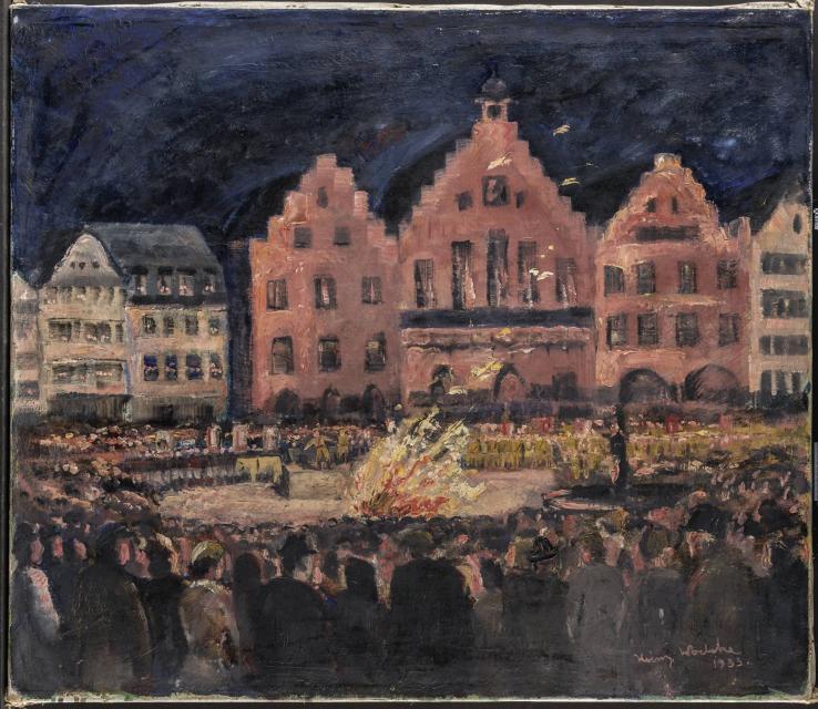 Bücherverbrennung auf dem Römerberg, 10.05.1933