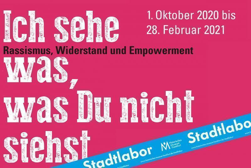 Plakat Stadtlabor-Ausstellung