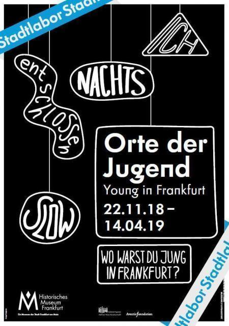 Plakat Orte der Jugend: Textwolken (nachts, entschlossen, slow)