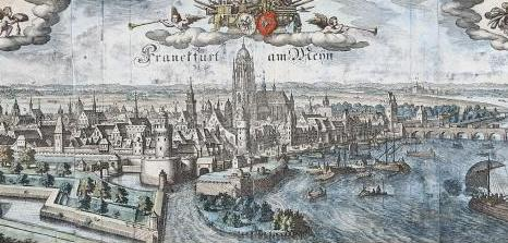Merian Kaspar Stadtansicht von Frankfurt am Main von 1657 aus Westen © HMF Horst Ziegenfusz