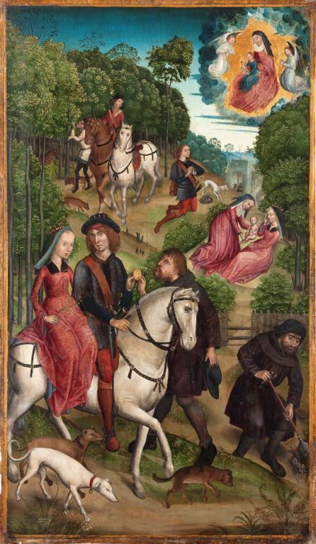 Niederdeutscher Meister - Annenaltar - Visionen des Einsiedlers Protop um 1495 Tempera auf Eiche (c) HMF Horst Ziegenfusz