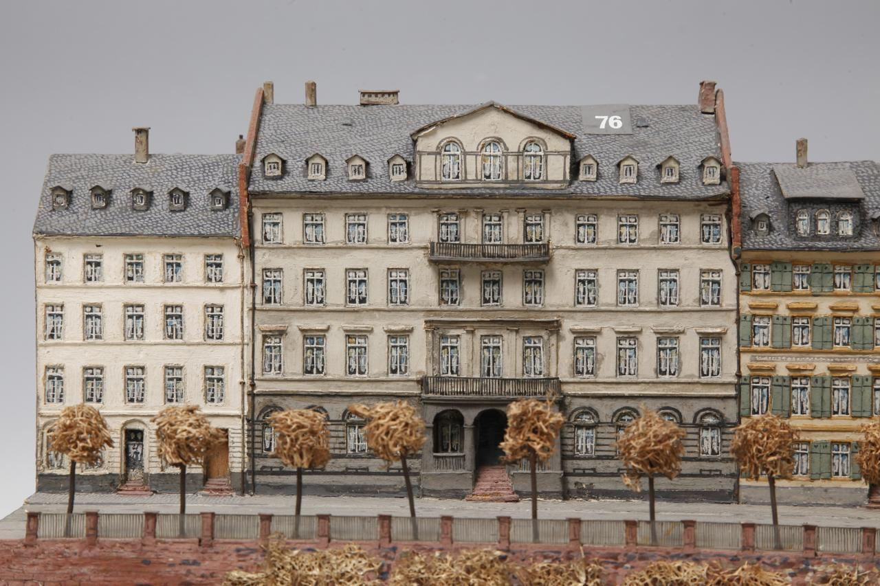 Wohnhaus Schopenhauers von Süden. Ausschnitt des Stadtmodells von Hermann und Robert Treuner © HMF, Uwe Dettmar