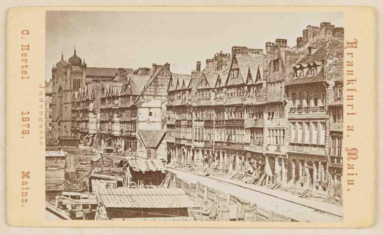 Postkarte der Judengasse von 1878